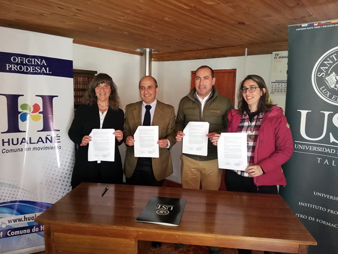Ovisnova firmó convenio con Municipio de Hualañé